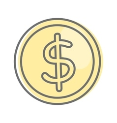 Money sign isolated dollar coin video marketing vector