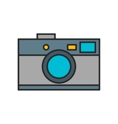 Photo camera flat color icon isolated on white vector image
