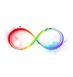 Rainbow Symbol of Infinity vector image