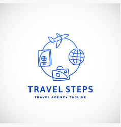 travel steps abstract sign emblem or logo vector image vector image