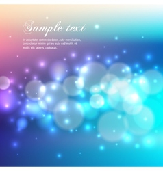 Blue bokeh abstract light background vector image