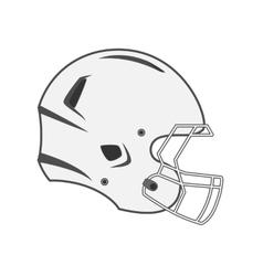 Design of white Football Helmet vector image