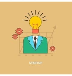 Idea as the Beginning of Startup Eureka vector image vector image