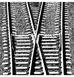 Railway Tracks and Switch vector image
