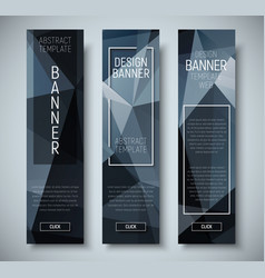 set of vertical web banners with abstract vector image