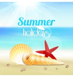 Summer holiday vacation travel poster vector image vector image