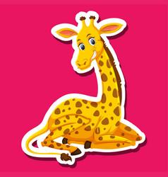 a giraffe character sticker vector image