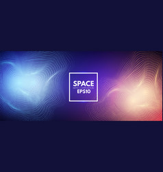 abstract background with shining dynamic waves vector image