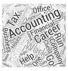 Accounting Finance Careers Word Cloud Concept vector image
