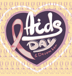 Aids day concept background hand drawn style vector
