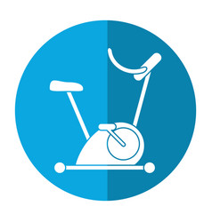 bicycle static exercise training icon vector image