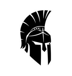 Black spartan helmet vector