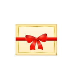Blank Gift Card and red bow vector