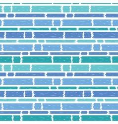 Blue paint horizontal stripes seamless pattern vector image