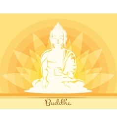 Buddha with lotus flower vector image
