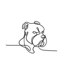 Bully dog breed american pit bull terrier english vector