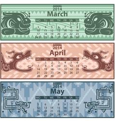 Calendar 2014 Spring vector