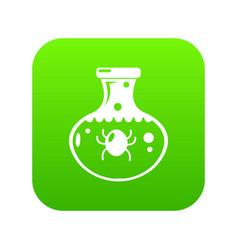 chemical bug icon green vector image