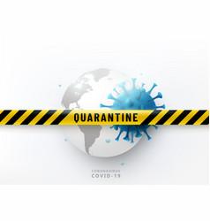 Coronavirus quarantine design concept vector