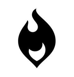 fire flames new black icon vector image