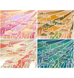 Fish batik vector