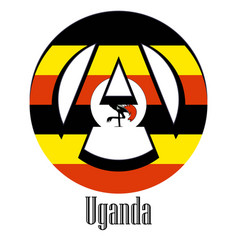 flag of uganda of the world in the form of a sign vector image