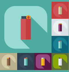Flat modern design with shadow icons lighter vector