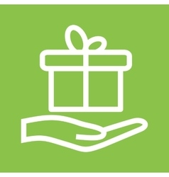 Giving Gift vector image