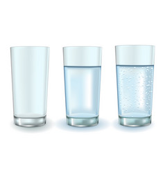 Glass of water set vector