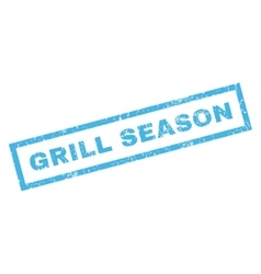 Grill Season Rubber Stamp vector