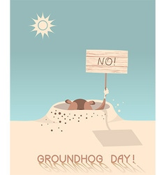 Groundhog day cartoon vector