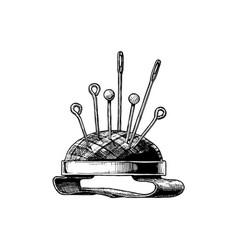 hand drawn of pin cushion vector image