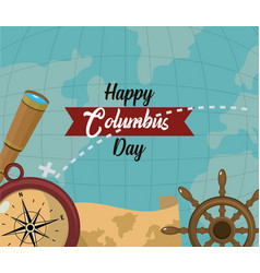 Happy columbus day card vector