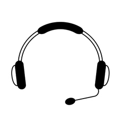 headset call center device vector image