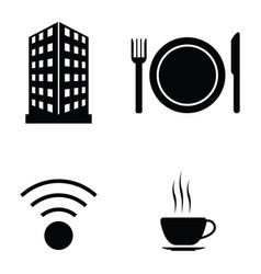 hotel icon set vector image