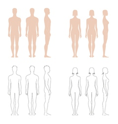 Human figure collection vector image