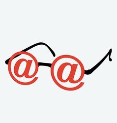 Internet glasses vector image