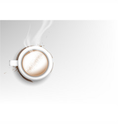 isolated cup of coffee collection latte cinnamon vector image