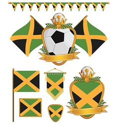 jamaica flags vector image