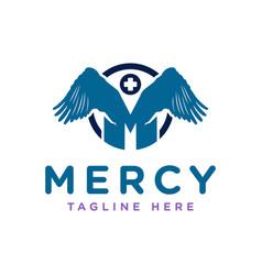 Letter m health industry logo vector