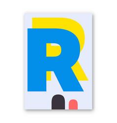 Letter r poster vector