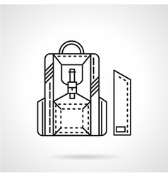 Line icon for school knapsack vector image