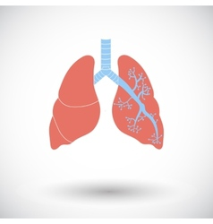 Lungs in Black and White vector image