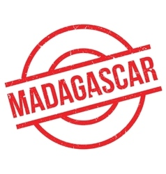 Madagascar rubber stamp vector