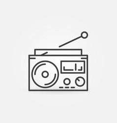 old radio concept icon in thin line style vector image