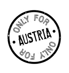 Only for austria rubber stamp vector