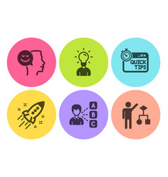 Opinion education and good mood icons set vector
