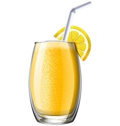 Orange smoothie in glass vector