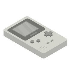 Portable game console icon isometric style vector