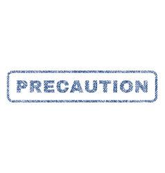Precaution textile stamp vector